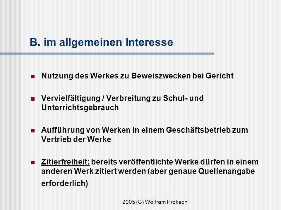 2005 (C) Wolfram Proksch B.