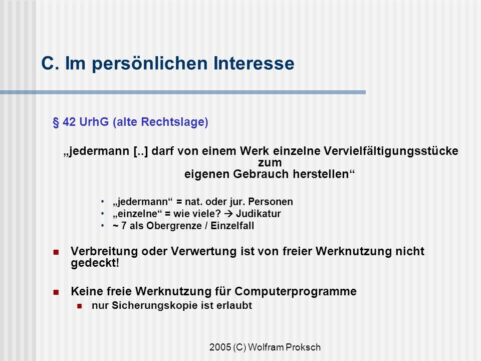 2005 (C) Wolfram Proksch C.