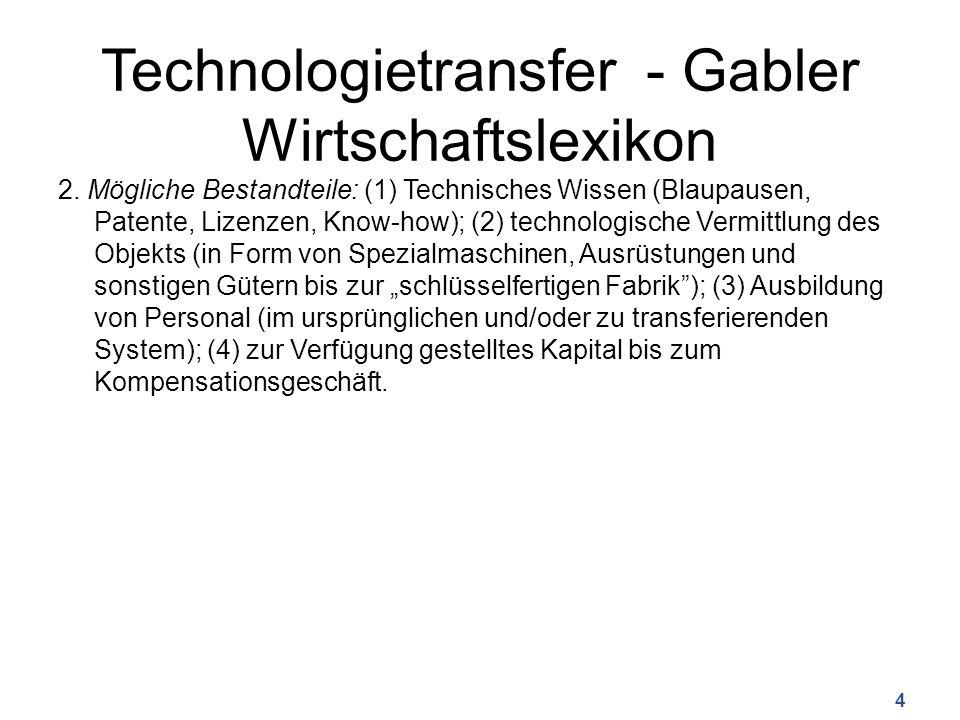 Technologietransfer - Gabler Wirtschaftslexikon 2.