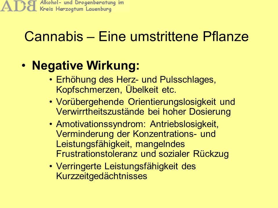 Negative Wirkung: Erhöhung des Herz- und Pulsschlages, Kopfschmerzen, Übelkeit etc. Vorübergehende Orientierungslosigkeit und Verwirrtheitszustände be