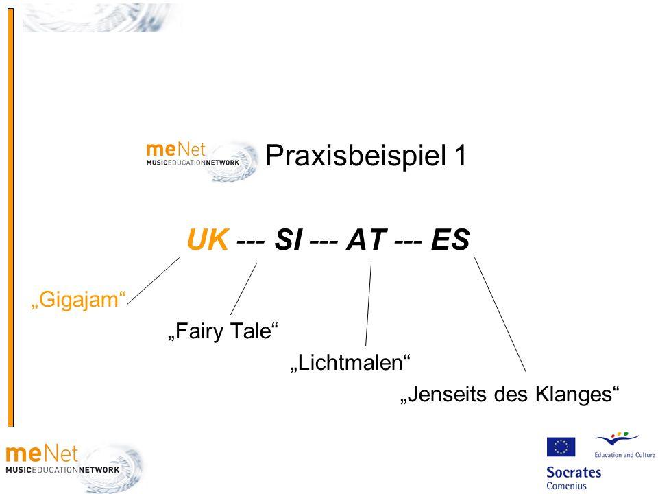 Praxisbeispiel 1 UK --- SI --- AT --- ES Gigajam Fairy Tale Lichtmalen Jenseits des Klanges