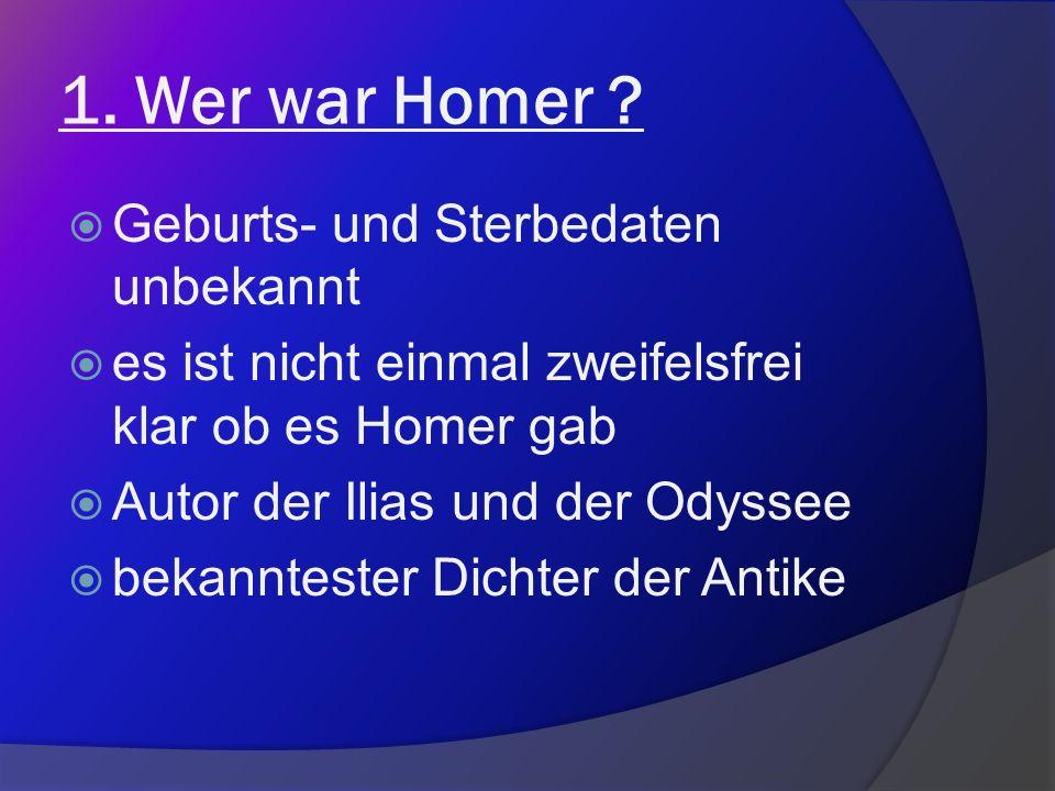 Eine Büste von Homer