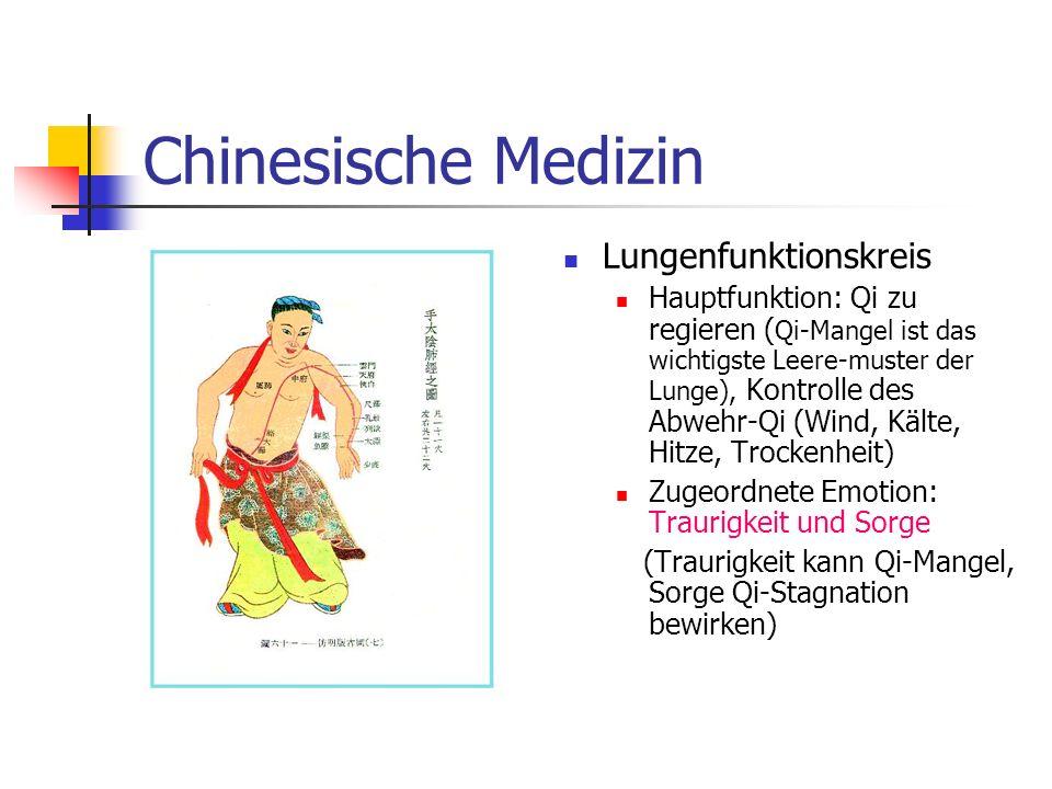 Chinesische Medizin Lungenfunktionskreis Hauptfunktion: Qi zu regieren ( Qi-Mangel ist das wichtigste Leere-muster der Lunge), Kontrolle des Abwehr-Qi
