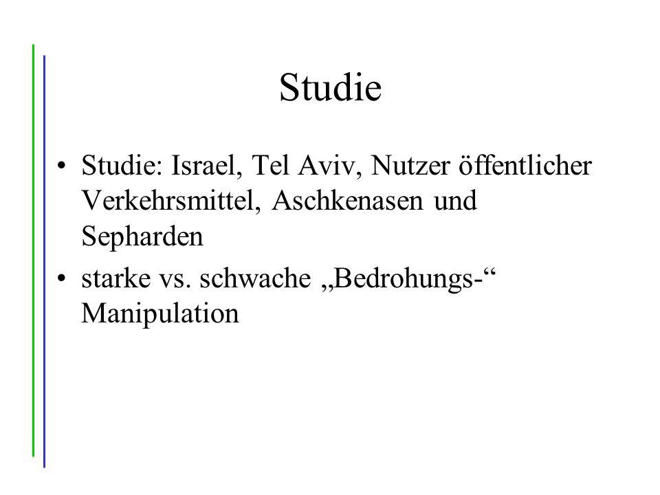 Studie Studie: Israel, Tel Aviv, Nutzer öffentlicher Verkehrsmittel, Aschkenasen und Sepharden starke vs.