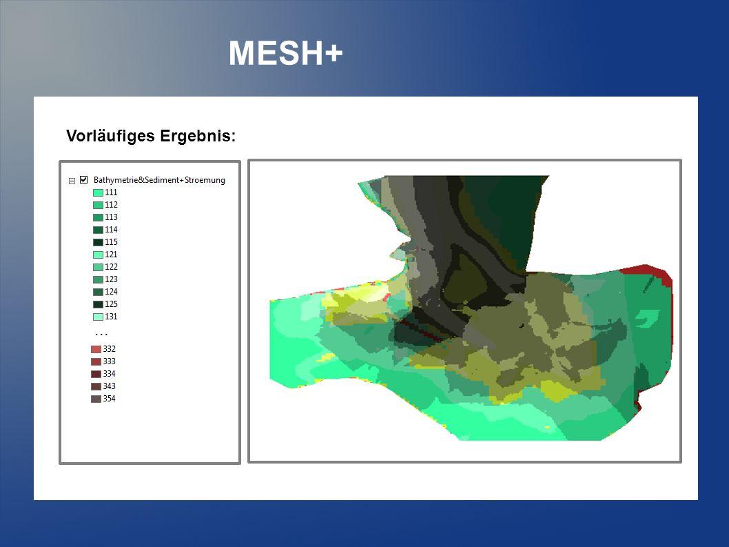 MESH+... Vorläufiges Ergebnis: