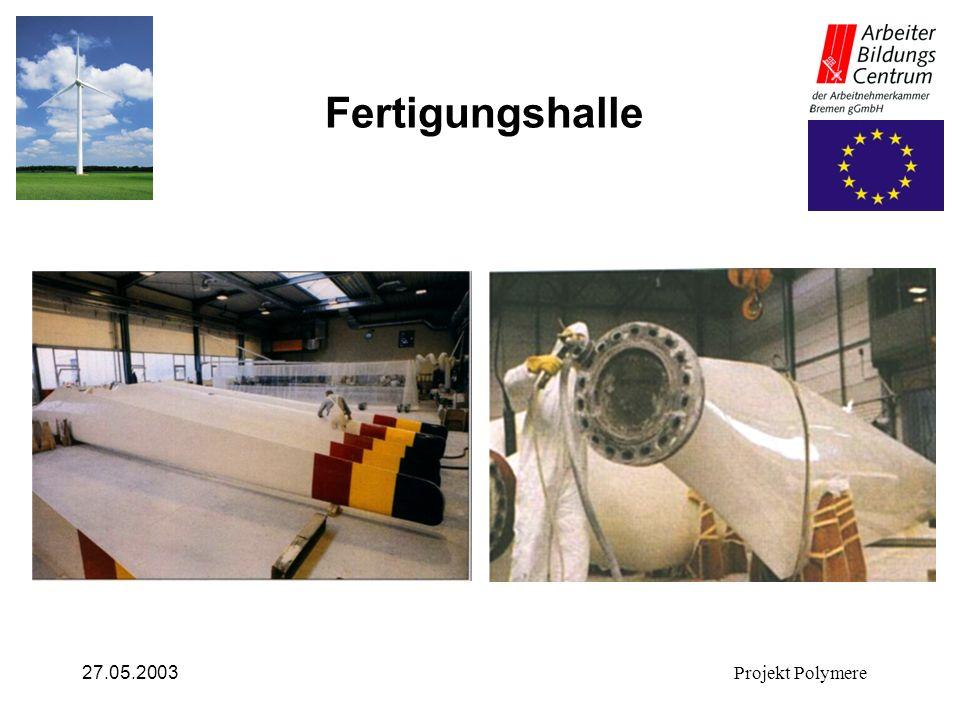 27.05.2003Projekt Polymere Fertigungshalle