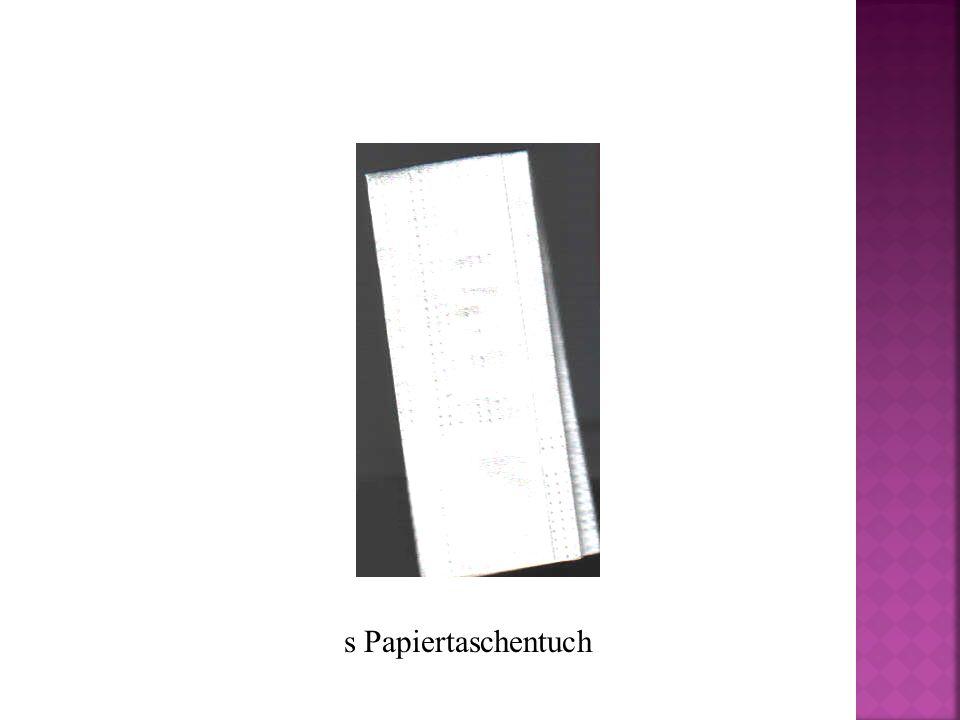 s Papiertaschentuch