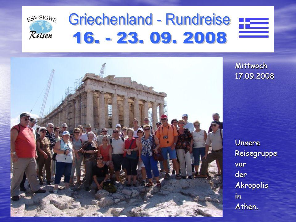 WirstehenvordemTempelderAthenerinDelphi. Donnerstag18.09.2008