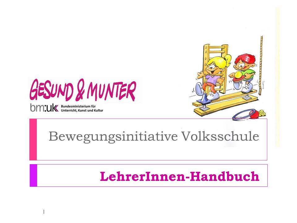Bewegungsinitiative Volksschule LehrerInnen-Handbuch 1