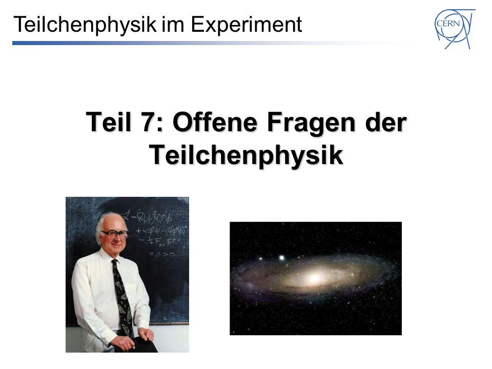 Teil 7: Offene Fragen der Teilchenphysik Teilchenphysik im Experiment