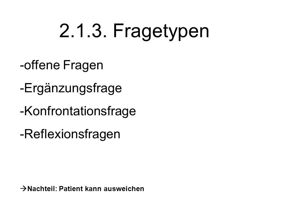 2.2.Arztzentrierte direkte Gesprächsführung 2.2.1.