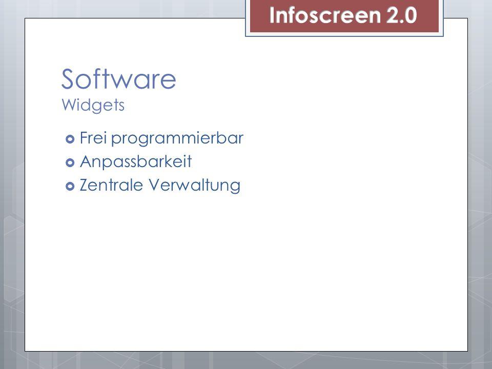 Software Widgets Frei programmierbar Anpassbarkeit Zentrale Verwaltung