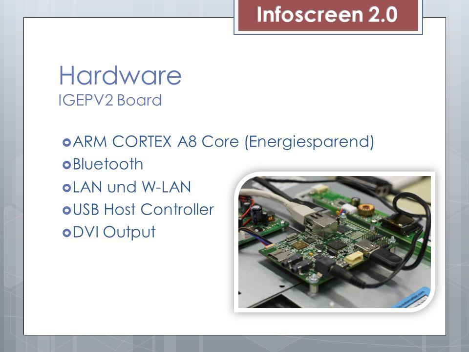 Hardware IGEPV2 Board ARM CORTEX A8 Core (Energiesparend) Bluetooth LAN und W-LAN USB Host Controller DVI Output