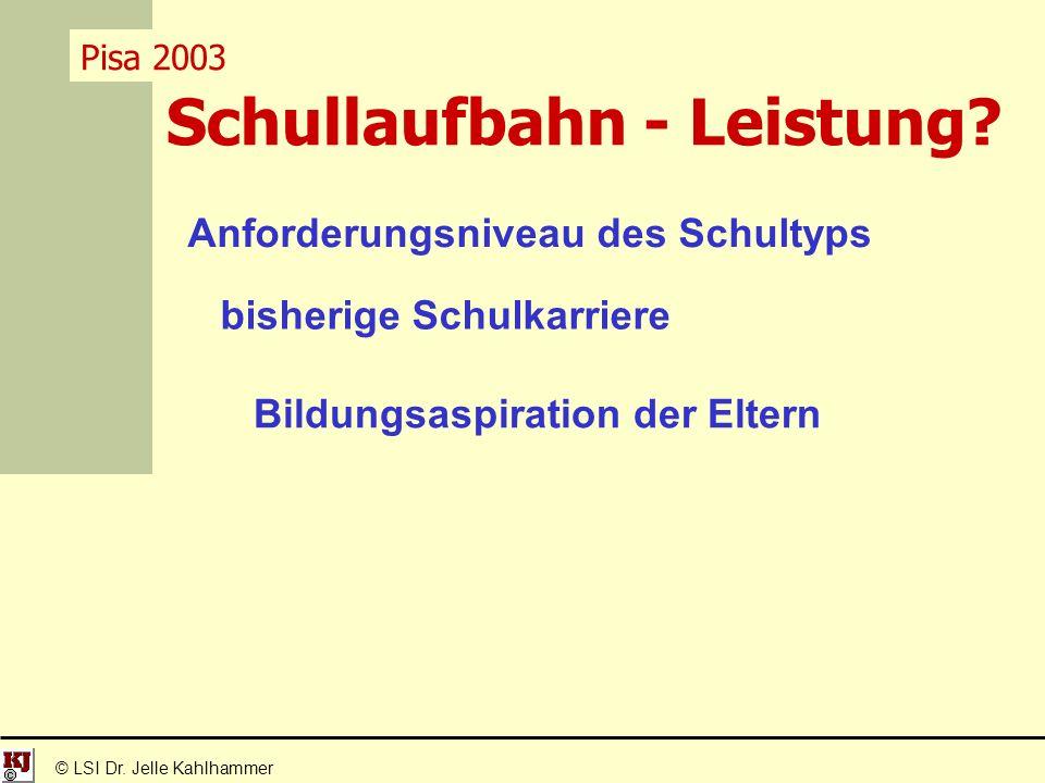 Schullaufbahn - Leistung. © LSI Dr.