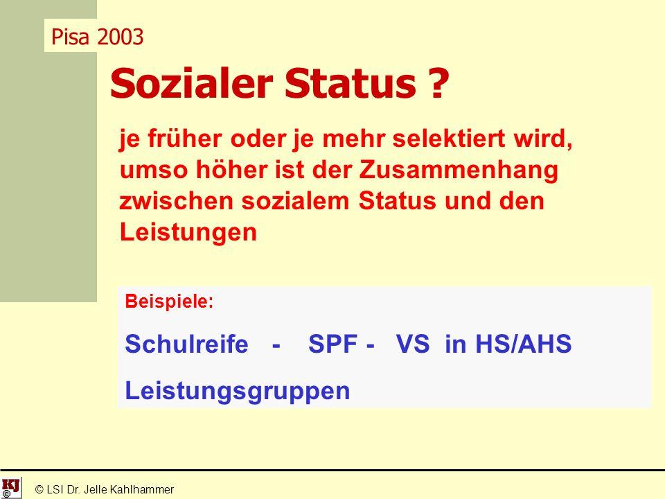 Sozialer Status . © LSI Dr.