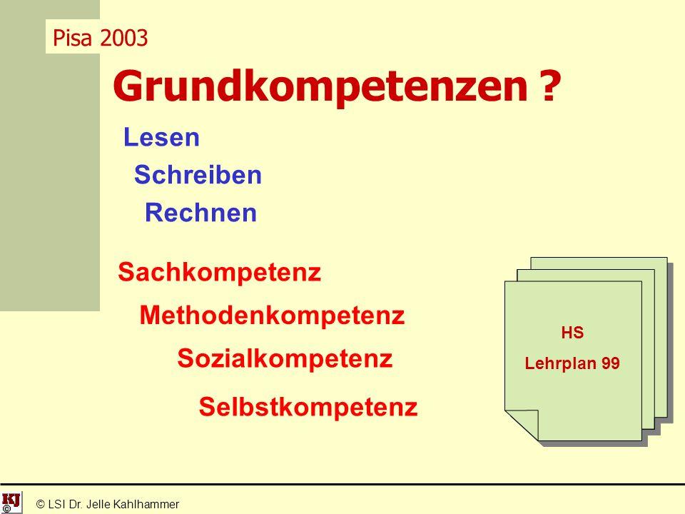 Grundkompetenzen . © LSI Dr.