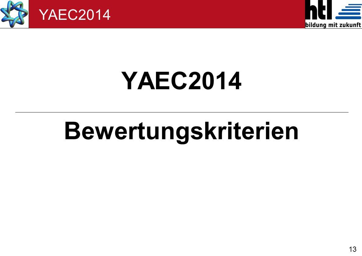 13 YAEC2014 Bewertungskriterien