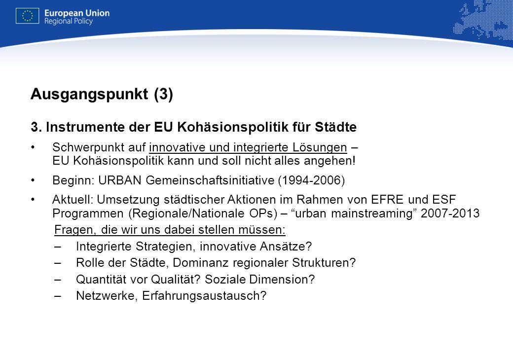 REGIONAL POLICY EUROPEAN COMMISSION Rahmenbedingungen für städtische Aktionen 2014+ Lissabon-Vertrag –Stärkung der lokalen Ebene und des bürgerschaftlichen Engagements: bessere Integration der Städte.