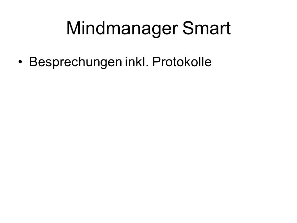 Mindmanager Smart Besprechungen inkl. Protokolle