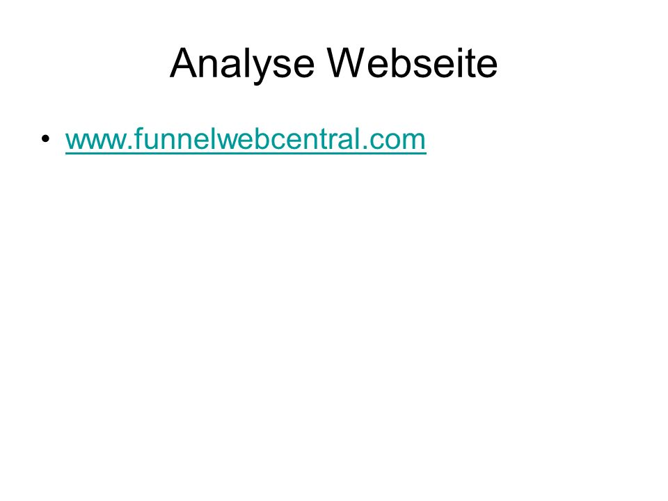 Analyse Webseite www.funnelwebcentral.com