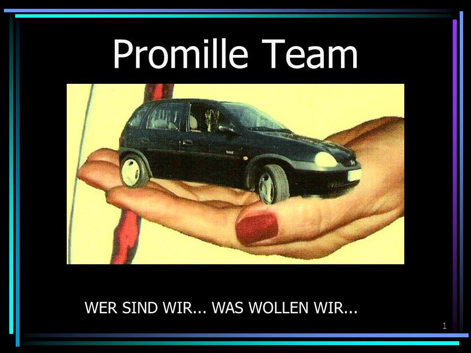 1 Promille Team WER SIND WIR... WAS WOLLEN WIR...
