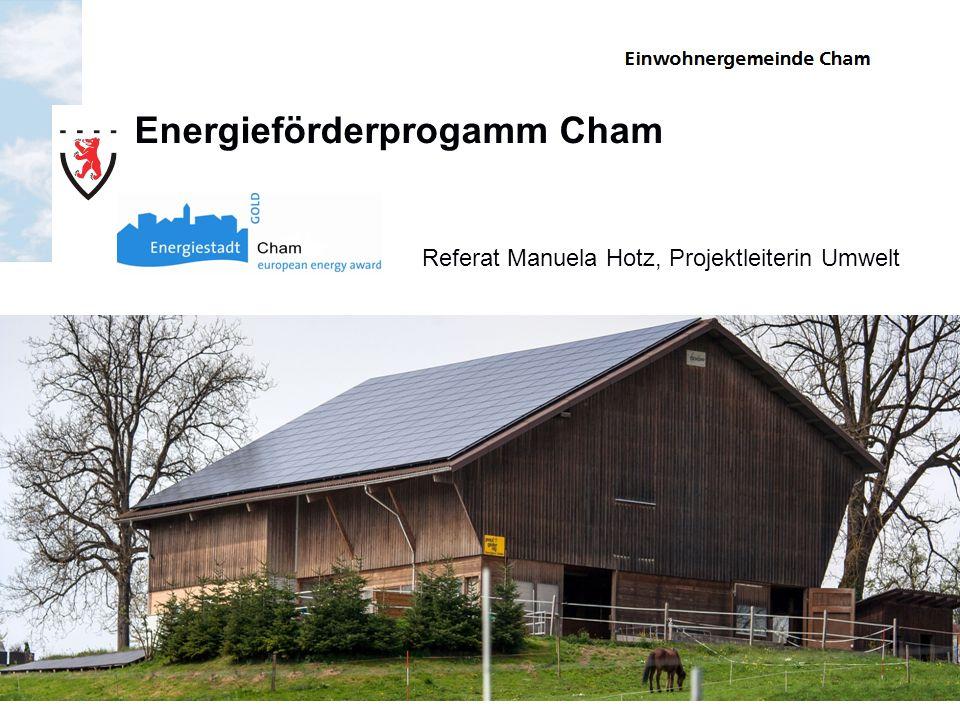 Energieförderprogamm Cham Referat Manuela Hotz, Projektleiterin Umwelt