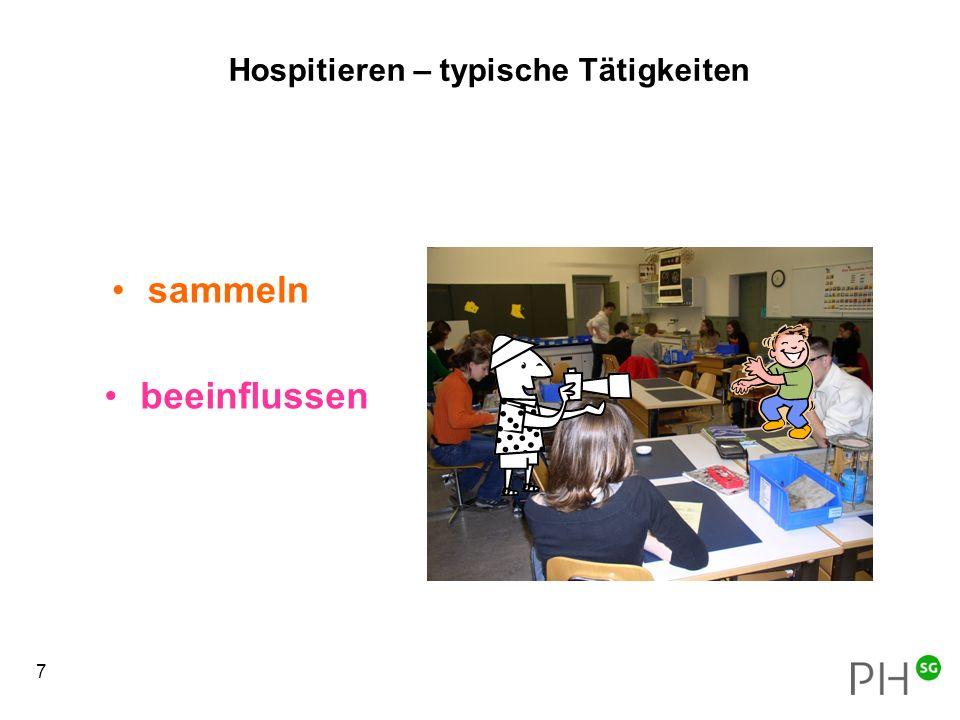 18 Hospitationen im Unterricht