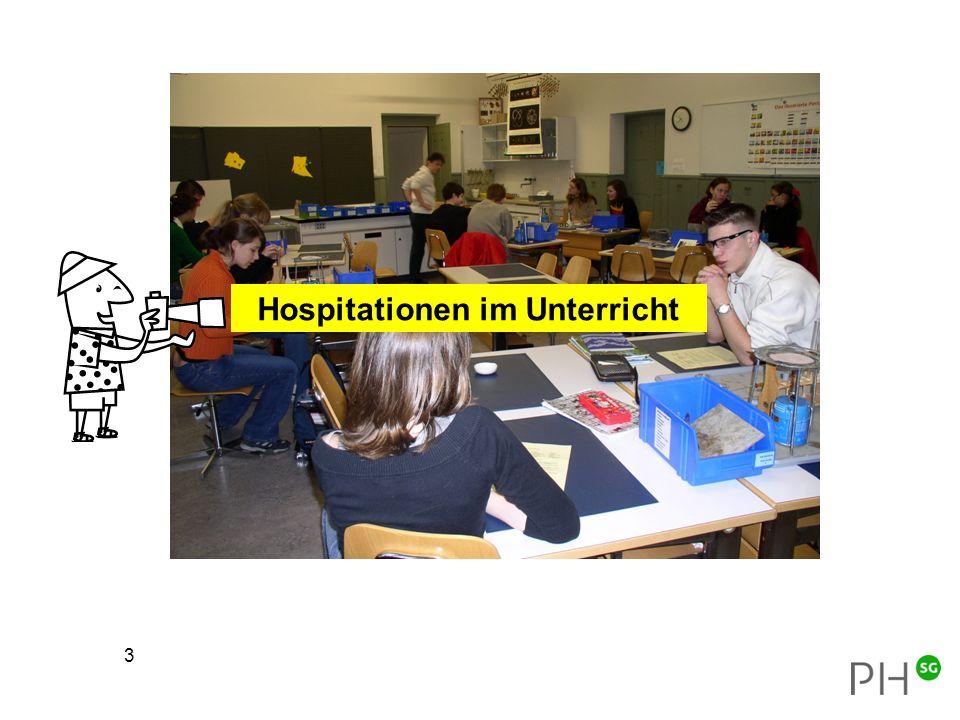 3 Hospitationen im Unterricht