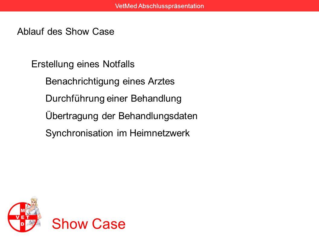 VetMed Abschlusspräsentation Show Case Ablauf des Show Case