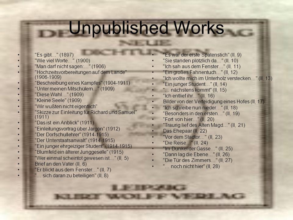 Unpublished Works