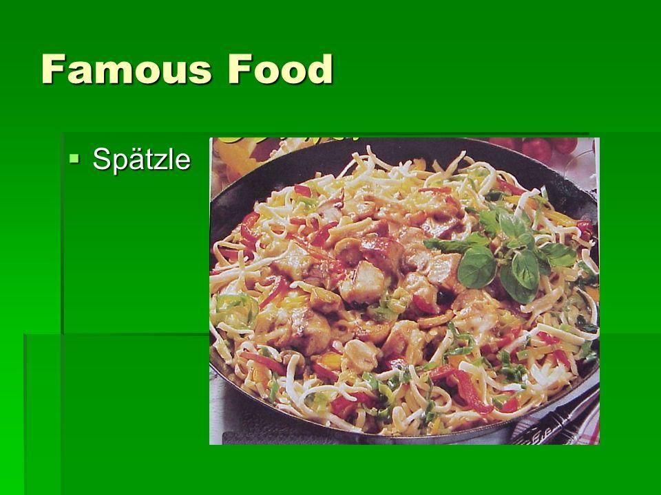 Famous Food Spätzle Spätzle