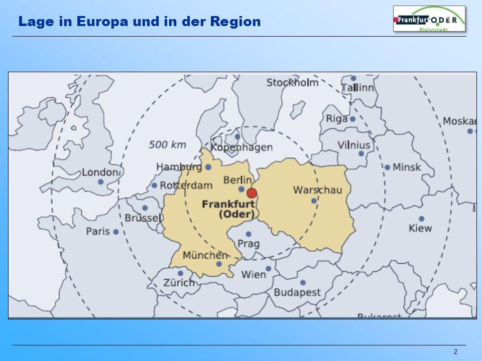 2 Lage in Europa und in der Region