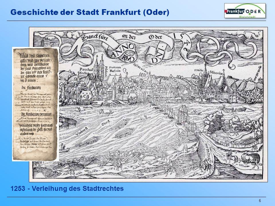 7 1430-1500 – Mitglied der Hanse Geschichte der Stadt Frankfurt (Oder)