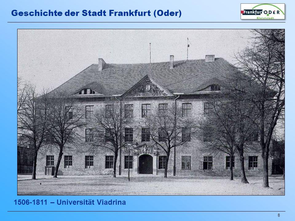19 ab 1946 – Enttrümmerung und Beginn des Wiederaufbaus Geschichte der Stadt Frankfurt (Oder)