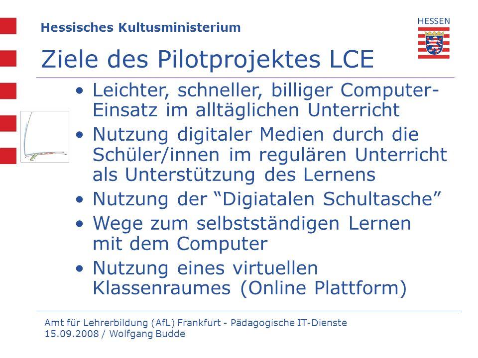 Amt für Lehrerbildung (AfL) Frankfurt - Pädagogische IT-Dienste 15.09.2008 / Wolfgang Budde Leichter, schneller, billiger Computer- Einsatz im alltägl