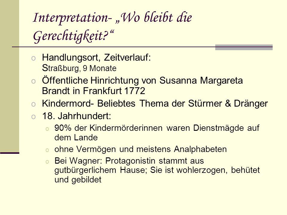 Interpretation- Wo bleibt die Gerechtigkeit.