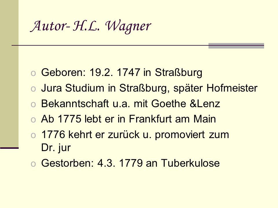 Autor- H.L.Wagner o Geboren: 19.2.