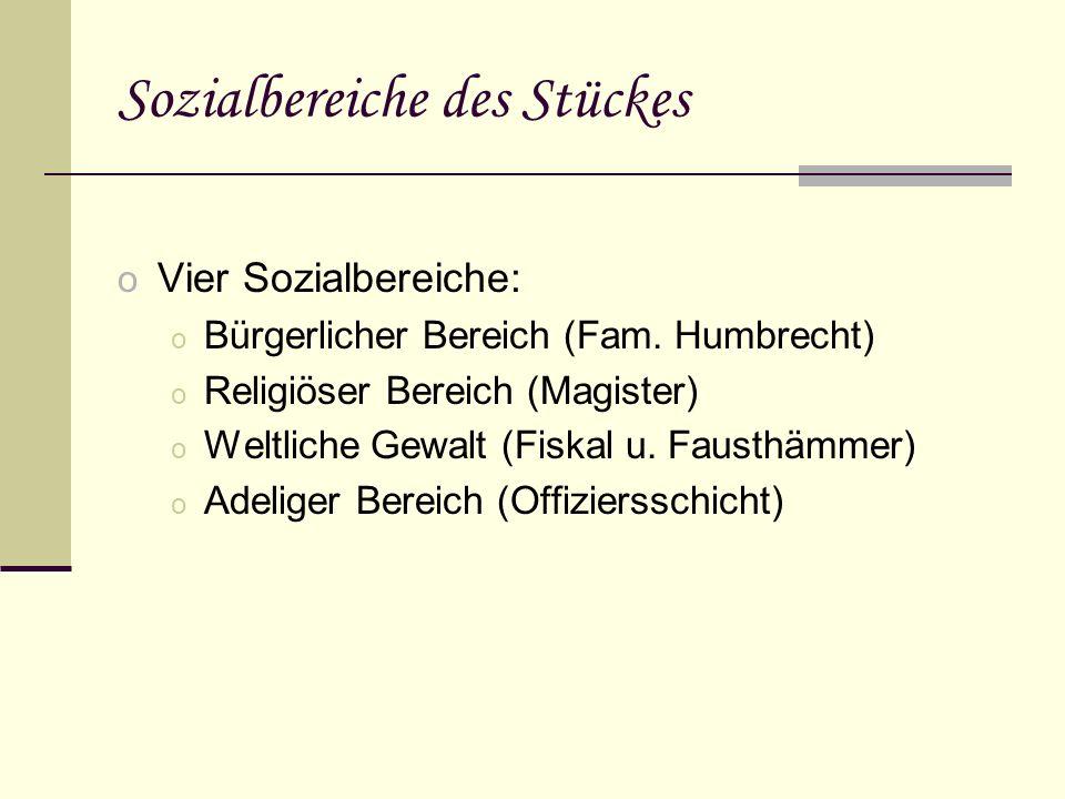 Hauptpersonen o Evchen o Meister Humbrecht o Frau Humbrecht o Leutnant v.