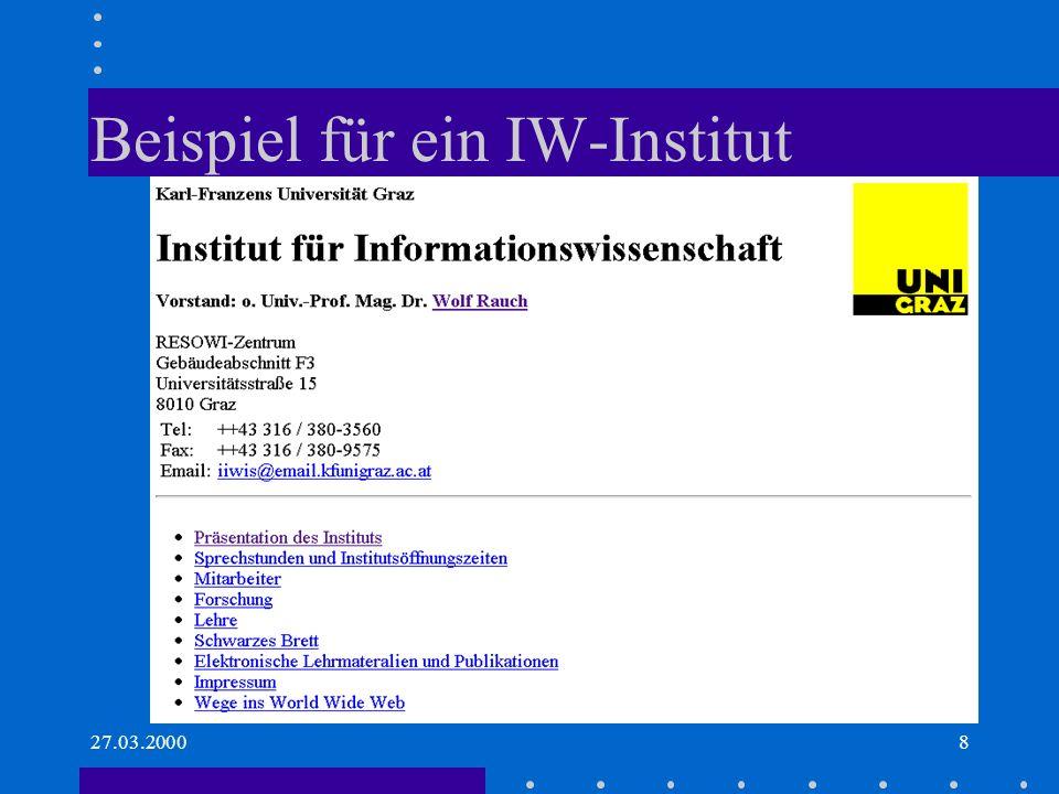 27.03.20009 IW: Gegenstandsbereich