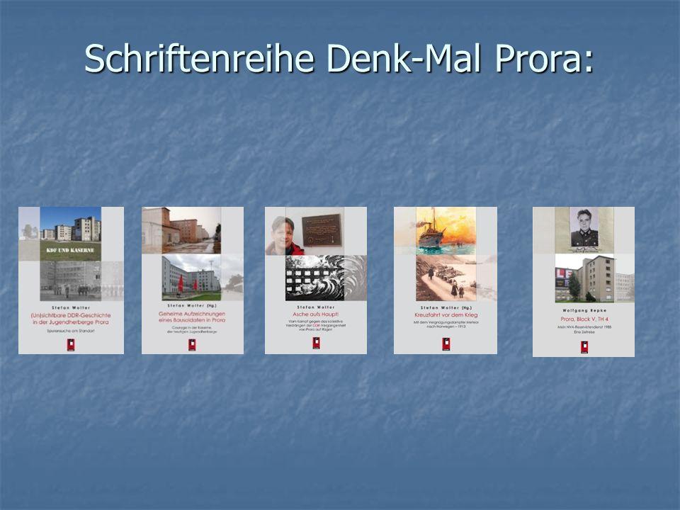 Schriftenreihe Denk-Mal Prora: