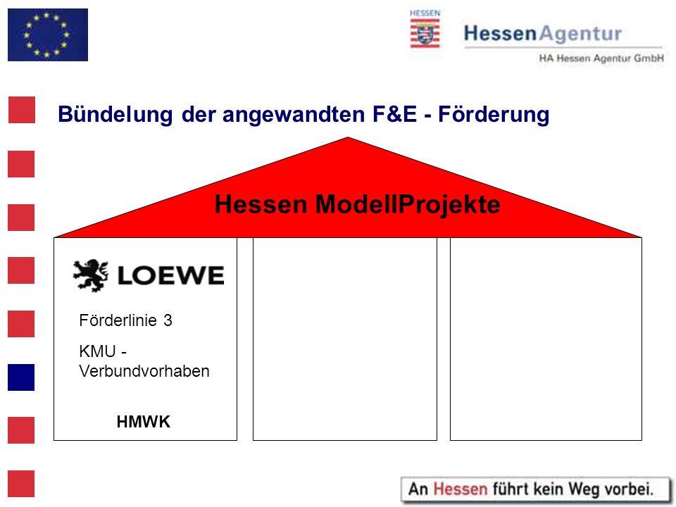 Bündelung der angewandten F&E - Förderung HMWK Förderlinie 3 KMU - Verbundvorhaben Hessen ModellProjekte