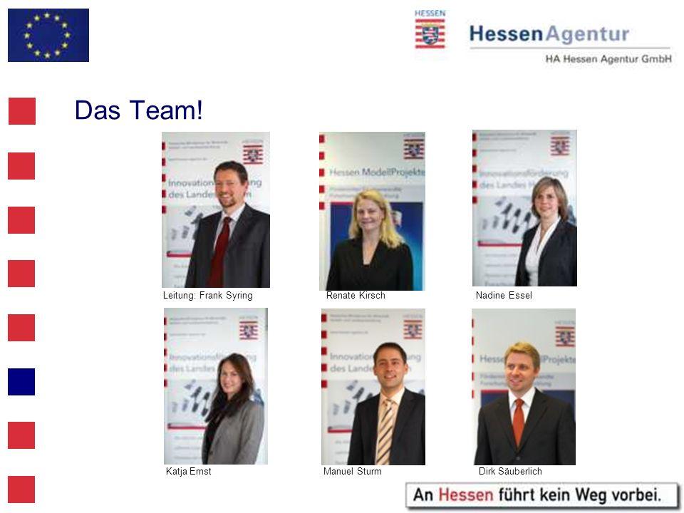 Das Team! Leitung: Frank Syring Renate Kirsch Nadine Essel Katja Ernst Manuel Sturm Dirk Säuberlich