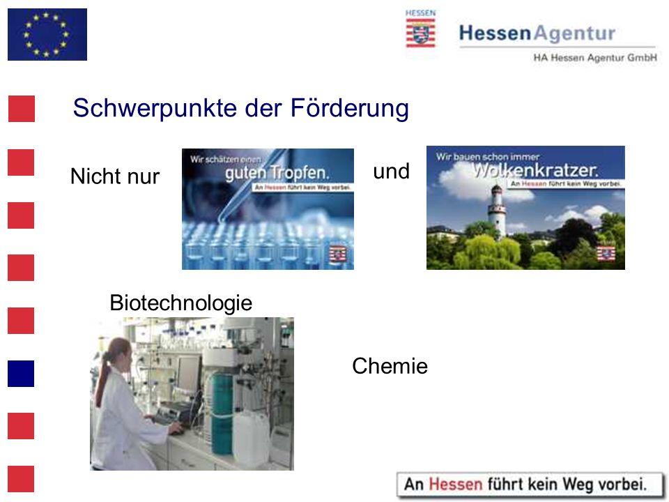 Schwerpunkte der Förderung Biotechnologie Chemie Nicht nur und