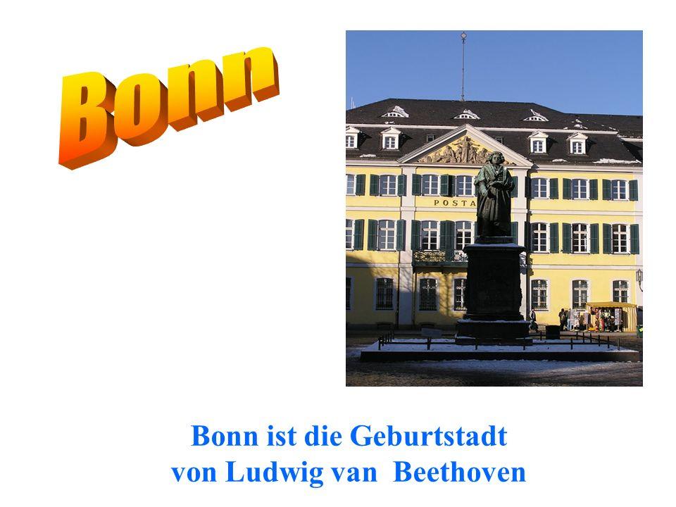 Bonn ist die Geburtstadt von Ludwig van Beethoven