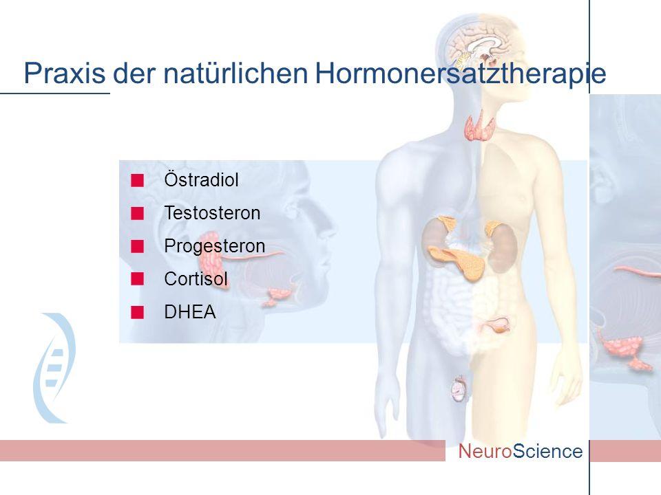 Östradiol Testosteron Progesteron Cortisol DHEA NeuroScience Praxis der natürlichen Hormonersatztherapie