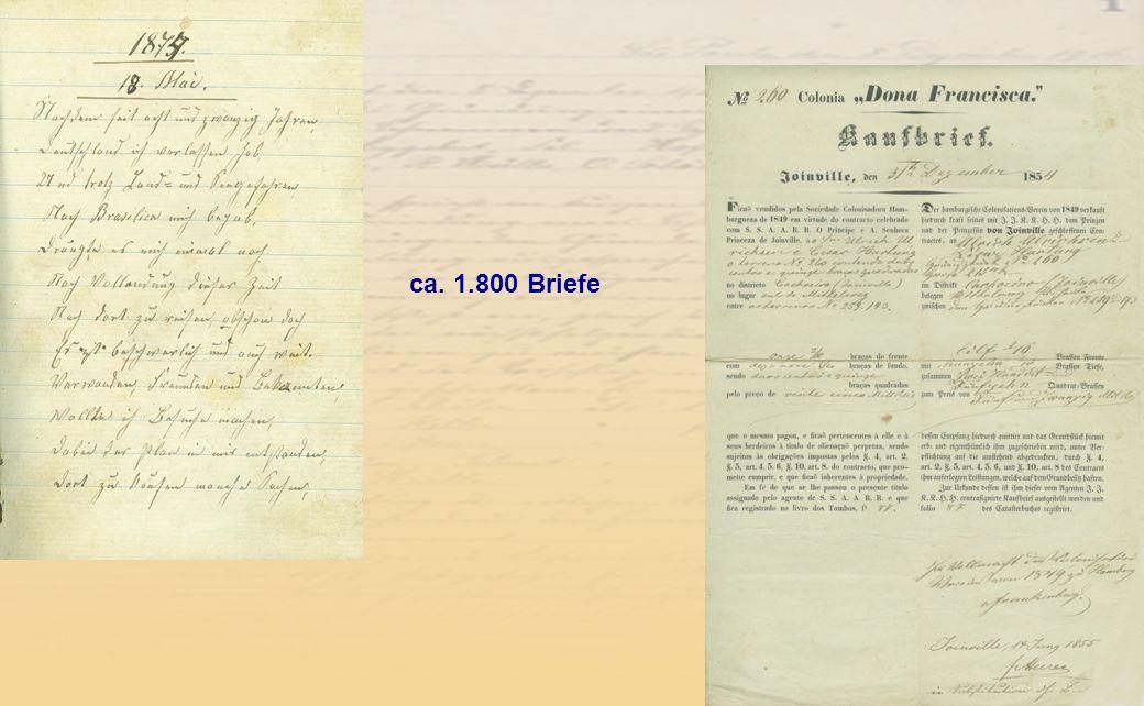 ca. 1.800 Briefe