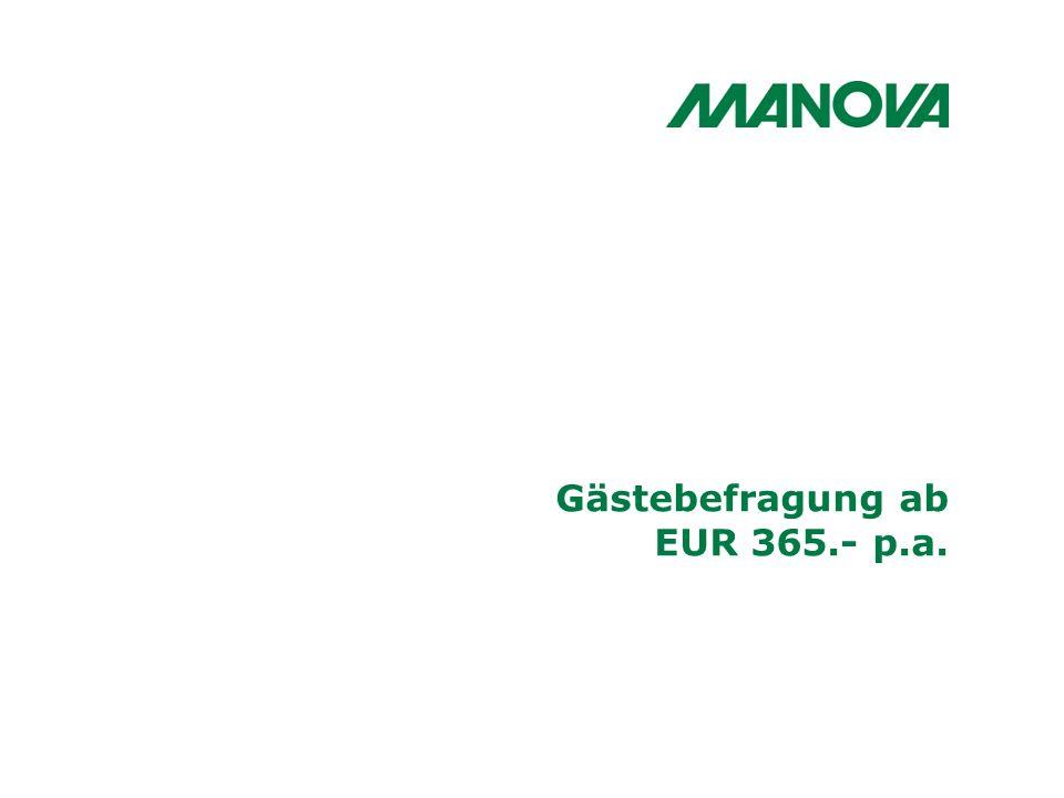 Gästebefragung ab EUR 365.- p.a.