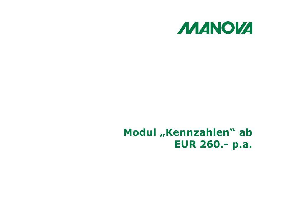 Modul Kennzahlen ab EUR 260.- p.a.