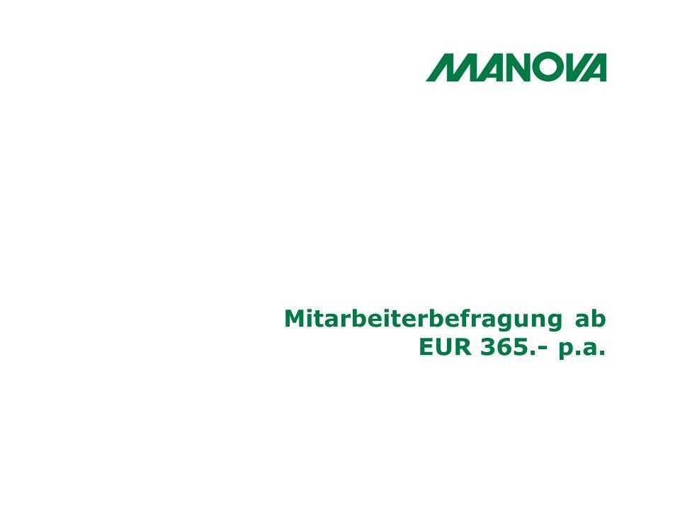 Mitarbeiterbefragung ab EUR 365.- p.a.