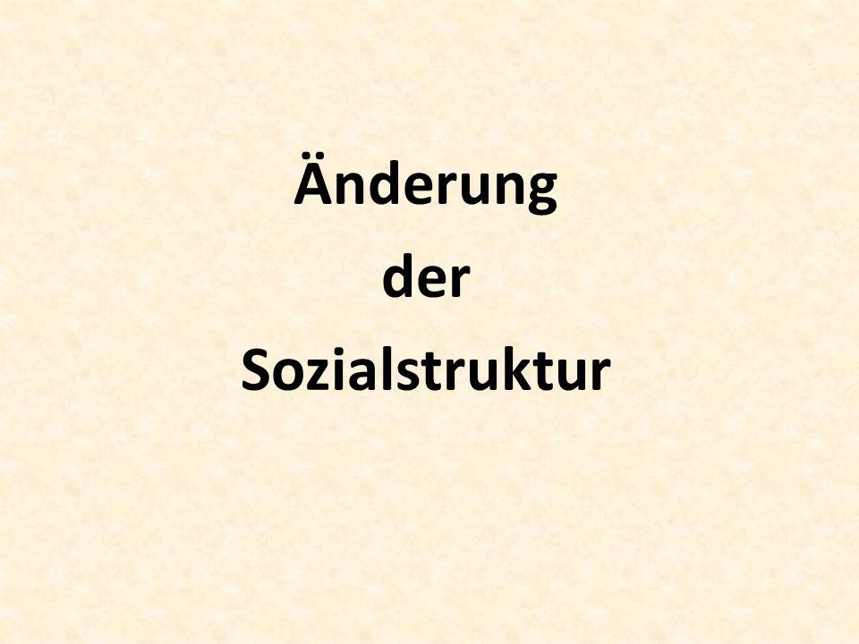 Änderung der Sozialstruktur